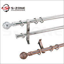 Classical window design single durable stainless steel curtain rods