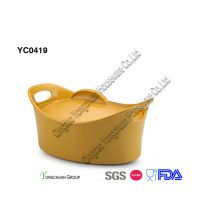Solid Yellow Color Casserole Dish