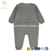 Pure cashmere layette jumpsuit for baby