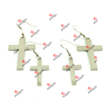 Moda de metal cruz encantos colgante pendientes pendientes para la venta (CDE51031)