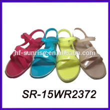 hotselling plastic sandals for women ladies pvc sandals ladies fancy flat sandal