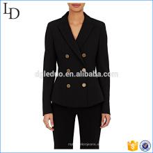 Chaquetas de diseño popular para mujer trajes blazers formal vestido de traje ajustado