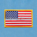 Classical America Flag Design Merrowed Embroidery