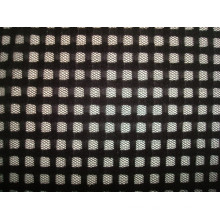 Check Mesh Knitting Fabric