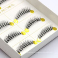2018 hand made 5 pairs synthetic strip false eyelash for distributor