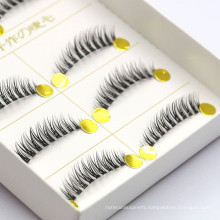 2018 hand made 5 pairs synthetic strip false eyelash for distributor