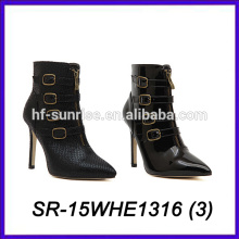 China Frauen Schuhe Leder oberen Frauen High Heel Schuhe