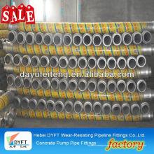 Tuyau en caoutchouc de ciment JUNJIN DN125 * 3m pompe à béton Tuyau en tissu utilisé dans les pompes à béton