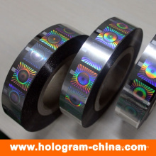 Silver Security Roll estampado holográfico en caliente