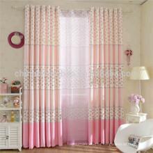 Cortinas impresas rosas cortinas blackout de las cortinas