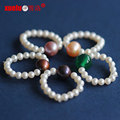 Small Round Natural Freshwater Pearl Rings Designs for Girls (E170001)