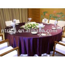 Toalha de mesa tafetá, tampa de tabela do Hotel/banquete