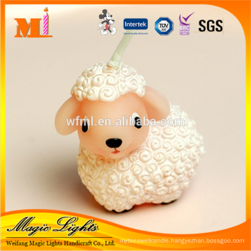 Mini Lovely Sheep Cartoon Shaped Candle for Baby Favors