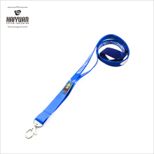 2017 Wholesale Cheap Woven Blue Promotion No MOQ Lanyards