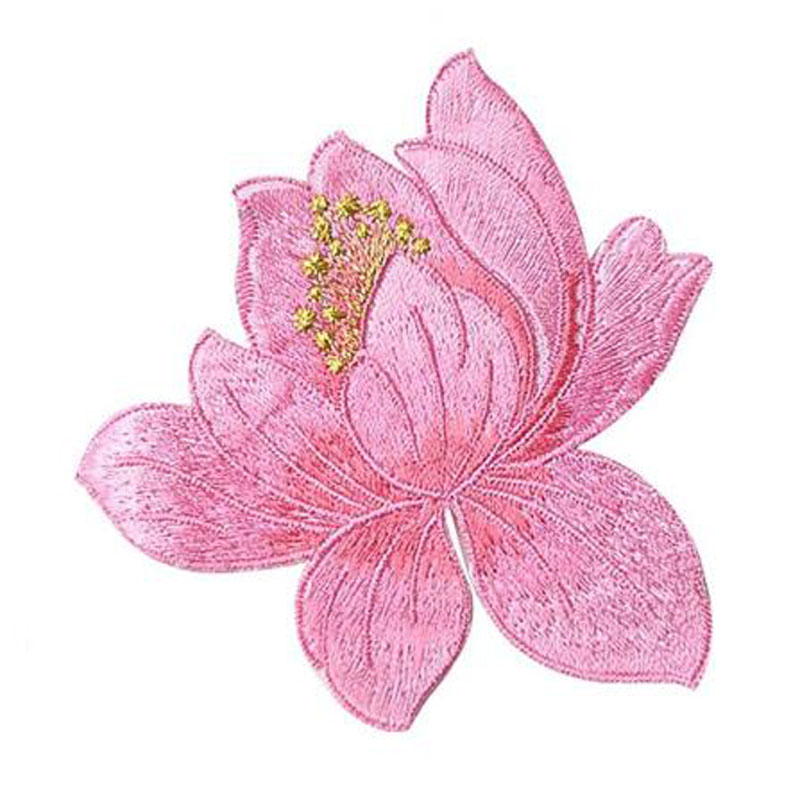 Lotus Applique Embroidery Patch