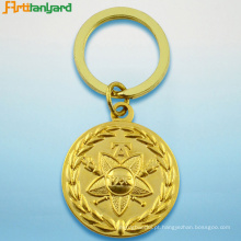 Chaveiro de metal com ouro banhado