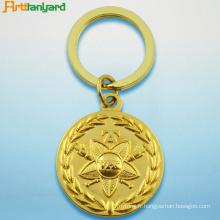 Porte-clés en métal avec plaqué or