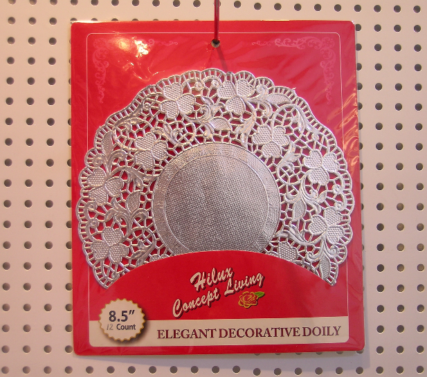 8.5inch silver foil doily round shape