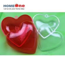 Envase de caramelo de plástico de forma de corazón