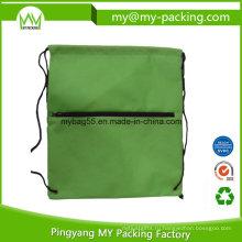 Производитель OEM заказ молнии drawstring сумки для покупок