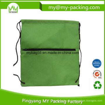 Soem-Auftrag Hersteller-Reißverschluss-Drawstring-Taschen für den Einkauf