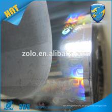 China Bajo Precio Auto-Adhesivo Transparente Transparente Holograma 3D Película
