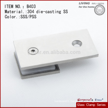 304SS 180 Degree Glass Door Clamp Hinges