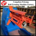 cold steel door frame coil hydraulic decoiler