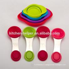 Usage de la cuisine et fonctionnalité écologique Outils de cuisson Couvercles multifonctionnels en caoutchouc pliable en caoutchouc