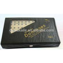 Blocs de jeu Domino serti de PVC noir