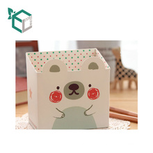 Creative cute children school use Rigid box stationary pen pencil paperboard pen container