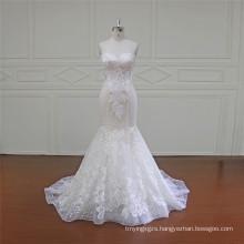 Chapel Train Lace Mermaid Bridal Dress 2016 (XF16011)
