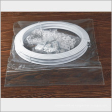 Ventana transparente de plástico suave cortina pvc tiras, ducha cortina gancho doble