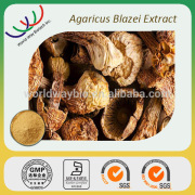 Free sample for trial HACCP KOSHER natural 40% polysaccharide bulk powder agaricus blazei extract