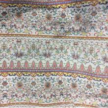 Gestreifte Blume Polyester Chiffon gewebt Gament Druckstoff