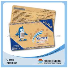 PVC Scratch off Prepaid Phone Card Telecom Calling Card