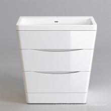 Buena calidad piso de pie mdf flotante mueble de baño