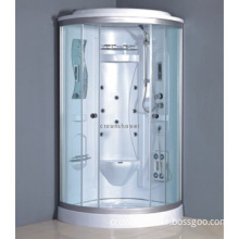Tempered glass control panel steam shower cabin