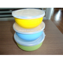 3 sets colorful decals enamel ice bowl & enamel cookware
