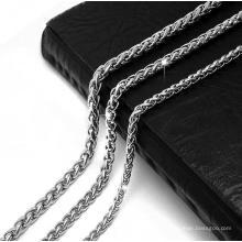 Moda jóias cobra cadeia colar titanium aço cor prata