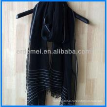 Echarpe de printemps, écharpe en coton, écharpe teintée de fil