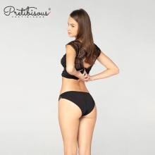 New design solid transparent bikini ladies lace panties