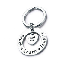 Stainless Steel Keychain Custom Engraved Letter Forever Star Coin Heart Key Chain Jewelry