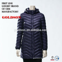2017 Ultra Light Shiny Nylon Sexy Women Goose Down Coat Chninese Manufacture