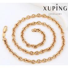 42925 образец мода очарование 18k позолоченные сплава меди имитация ювелирные изделия цепь ожерелье