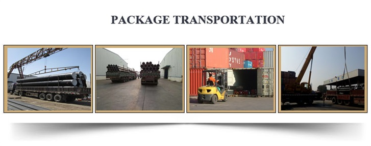 cement mortal lined anticorrosion steel pipe package transportation