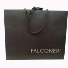Papiereinkaufstasche mit Logo auf Siebdruck