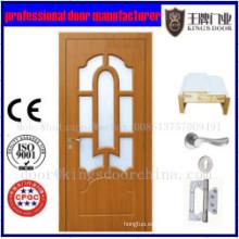 Cuarto de baño último diseño MDF puerta de panel decorativo de madera