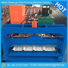 Farbe Stahl Wellpappe Dachplatte Maschine, farbige Stahlblech Stanzen Form Maschine, bunte Stahl Platte Walze Formmaschine
