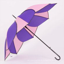 Auto abierto de melocotón y púrpura Umbrella recta (BD-53)
